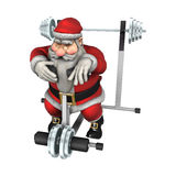 Santa Exhausted Royalty Free Stock Images