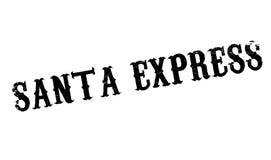 Santa Express rubber stämpel Arkivfoto