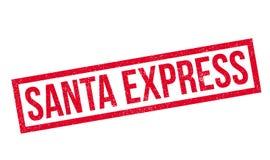 Santa Express rubber stämpel Royaltyfri Foto