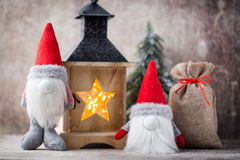 Santa för julgnomund hatt Den Seamless modellen kan användas för wallpaperen, modellpåfyllningar, rengöringsduksidabakgrund, surf Royaltyfria Foton