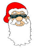 Santa face. Raster cartoon graphic depicting santa claus Royalty Free Stock Photos