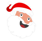 Santa face Stock Photography