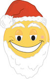 Santa Face. A Smiley type santa face Royalty Free Stock Images