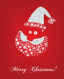 Santa face christmas card Royalty Free Stock Photo
