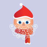 Santa Face Christmas Card Stock Afbeelding