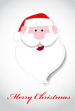 Santa Face Christmas Vector Illustration Stock Image