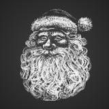 Santa Face Desenho de giz Imagem de Stock Royalty Free