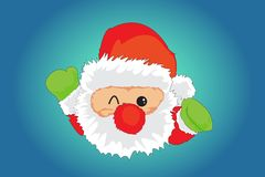 The Santa Face Stock Images