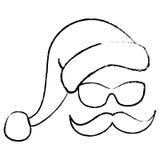 Santa face Stock Images