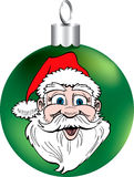 Santa Face Ornament Royalty Free Stock Photos