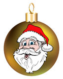 Santa Face Ornament Royalty Free Stock Images