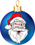 Santa Face Ornament Stock Photo
