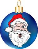 Santa Face Ornament Stock Photo