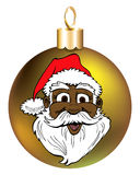 Santa Face Ornament Stock Photography