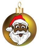 Santa Face Ornament Stock Photography