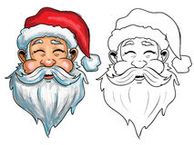 Santa face retro  illustration. Happy santa face retro  illustration Stock Image
