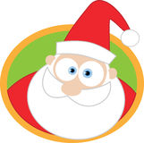 Santa face with round background Royalty Free Stock Images