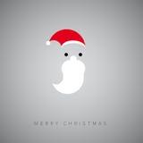 Santa face simple flat abstract symbol, Christmas card,  s Royalty Free Stock Image