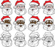 Santa Faces Stock Photo