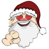 Santa Faces Fotos de archivo libres de regalías