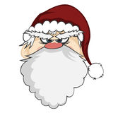 Santa Faces Stock Photos