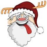 Santa Faces Stock Image