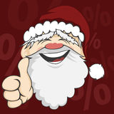 Santa Faces Stock Photography