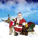 Santa/faderjul Arkivbilder