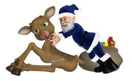 Santa/faderjul stock illustrationer