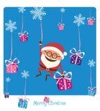 Santa Falling con la Navidad Gifs ilustración del vector