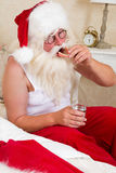 Santa with false teeth Royalty Free Stock Images