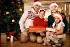 Santa family Royalty Free Stock Image