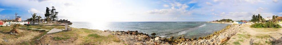Santa fe beach panorama, cuba Stock Image