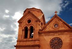 Santa Fe Cathedral Royalty Free Stock Images