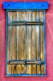 Santa Fe Colorful Window Frame und Türen lizenzfreies stockfoto