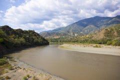 Santa Fe de Antioquia, Antioquia, Colômbia - ponte do oeste Imagens de Stock Royalty Free