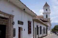 Santa Fe de Antioquia Antioquia, Colombia - historiskt centrum Royaltyfria Bilder