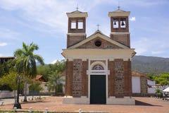 Santa Fe de Antioquia Colombia - kyrka av Jesus av Nazareth Royaltyfri Bild