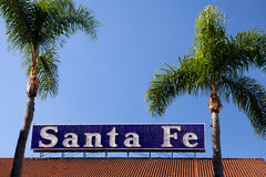 Santa Fe Depot sign, San Diego Stock Photography