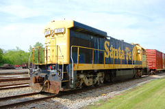 Santa Fe Diesel-Electric Locomotive Royalty Free Stock Photo