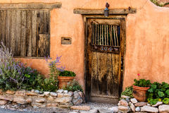 Santa Fe Door Stockfotos