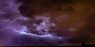 Santa Fe Lightning Photographie stock