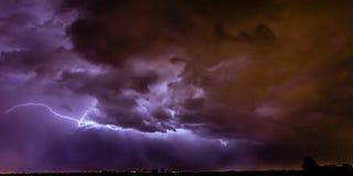 Santa Fe Lightning Stock Photography