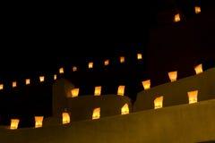 Santa Fe Luminarios Fotografia Stock Libera da Diritti
