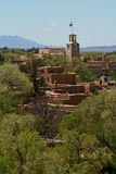 Santa Fe, New Mexico. A view of the city of Santa Fe, New Mexico. This view shows the traditional Santa Fe style buildings - a mixture of historic and modern day royalty free stock image