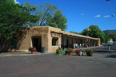 Santa Fe, New Mexico - Palace of the Governors stock image