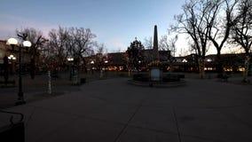 Santa Fe New Mexiko Plaza-Zeitspanne stock video