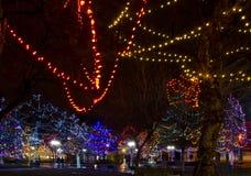 Santa Fe Plaza Christmas Lights foto de stock