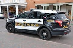 Santa Fe Police Department bil Arkivbild