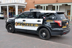 Santa Fe Police Department car Stock Photography
